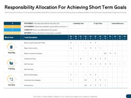 Responsibility Allocation For Achieving Short Term Goals Each Ppt Powerpoint Presentation Graphics