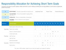 Responsibility Allocation For Achieving Short Term Goals Ppt Inspiration