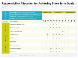 Responsibility Allocation For Achieving Short Term Goals Work Area Ppt Powerpoint Presentation Infographic Pictures