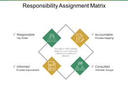 Responsibility Assignment Matrix Presentation Diagrams