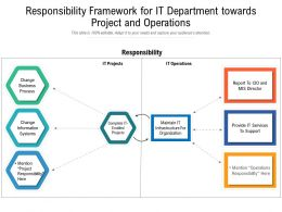 Responsibility Framework For IT Department Towards Project And Operations