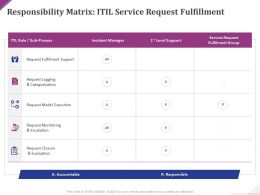 Responsibility Matrix Itil Service Request Fulfillment Ppt Powerpoint Presentation Summary