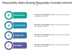 Responsibility Matrix Showing Responsible Consulted Informed