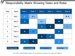 Responsibility Matrix Showing Tasks And Roles