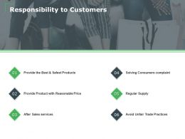 Responsibility To Customers Ppt Powerpoint Presentation Model Outline