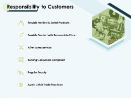 Responsibility To Customers Sales Services Ppt Powerpoint Slides
