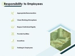 Responsibility To Employees Dignity Facilities Powerpoint Slides