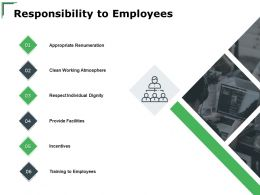 Responsibility To Employees Incentives Ppt Powerpoint Presentation Model Pictures