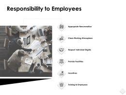 Responsibility To Employees Training Powerpoint Presentation Slides