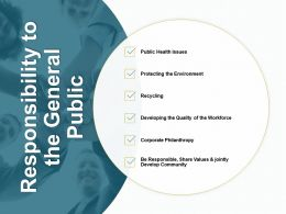 Responsibility To The General Public Corporate Philanthropy B146 Ppt Powerpoint Presentation Gallery Icons