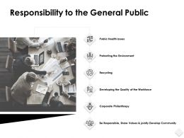 Responsibility To The General Public Environment Ppt Powerpoint Slides
