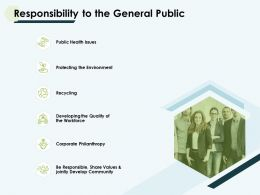 Responsibility To The General Public Environment Ppt Slides