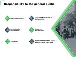 Responsibility To The General Public Recycling Ppt Powerpoint Presentation Model Portfolio
