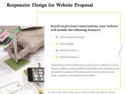 Responsive Design For Website Proposal Ppt Powerpoint Presentation Professional Model