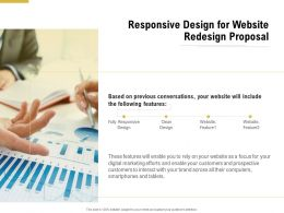 Responsive Design For Website Redesign Proposal Ppt Powerpoint Presentation Summary