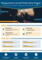 Responsive Scroll Web One Pager Presentation Report Infographic PPT PDF Document