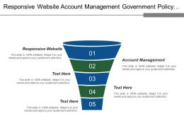 Responsive Website Account Management Government Policy Technological Change