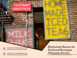 Restaurant Banner For Food And Beverages Takeaway Service