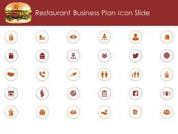 Restaurant Busrestaurant Business Plan Icon Slide Ppt Model Clipart