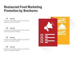 Restaurant Food Marketing Promotion By Brochures