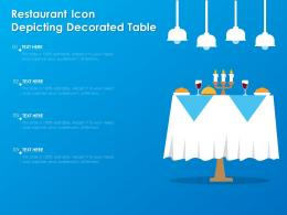 Restaurant Icon Depicting Decorated Table