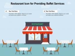 Restaurant Icon For Providing Buffet Services