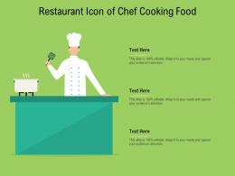 Restaurant Icon Of Chef Cooking Food