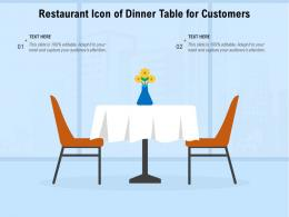 Restaurant Icon Of Dinner Table For Customers
