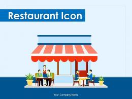 Restaurant Icon Service Decorated Customers Serving