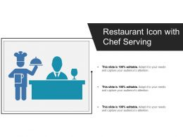 Restaurant Icon With Chef Serving