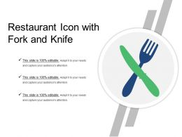Restaurant Icon With Fork And Knife