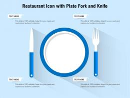 Restaurant Icon With Plate Fork And Knife