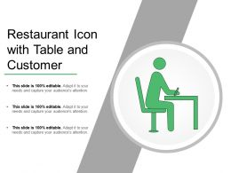 Restaurant Icon With Table And Customer