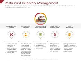 Restaurant Inventory Management Ppt Powerpoint Presentation Model Slideshow