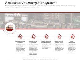 Restaurant Inventory Management Slide Ppt Powerpoint Presentation Summary