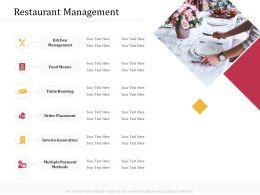 Restaurant Management M3229 Ppt Powerpoint Presentation Infographics Slide Portrait
