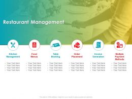 Restaurant Management Table Booking Ppt Powerpoint Presentation Slides Outline