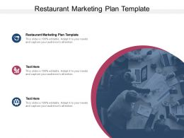 Restaurant Marketing Plan Template Ppt Powerpoint Presentation Icon Cpb
