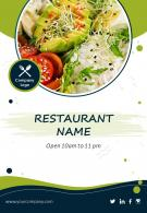 Restaurant Menu Leaflet Two Page Brochure Template