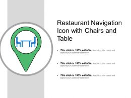 Restaurant Navigation Icon With Chairs And Table