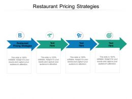 Restaurant Pricing Strategies Ppt Powerpoint Presentation Image Cpb