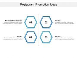 Restaurant Promotion Ideas Ppt Powerpoint Presentation Icon Ideas Cpb