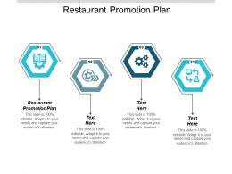 Restaurant Promotion Plan Ppt Powerpoint Presentation Ideas Smartart Cpb