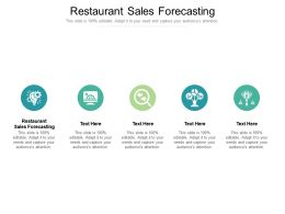 Restaurant Sales Forecasting Ppt Powerpoint Presentation Professional Show Cpb