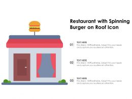 Restaurant With Spinning Burger On Roof Icon