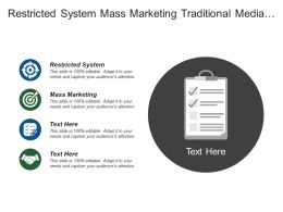 Restricted System Mass Marketing Traditional Media About Me
