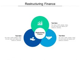 Restructuring Finance Ppt Powerpoint Presentation Icon Examples Cpb