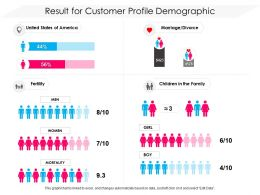 Result For Customer Profile Demographic