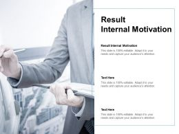 Result Internal Motivation Ppt Powerpoint Presentation Portfolio Good Cpb
