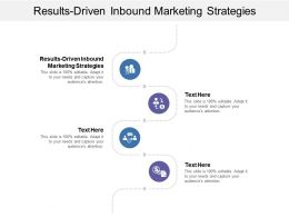 Results Driven Inbound Marketing Strategies Ppt Powerpoint Presentation Infographics Deck Cpb